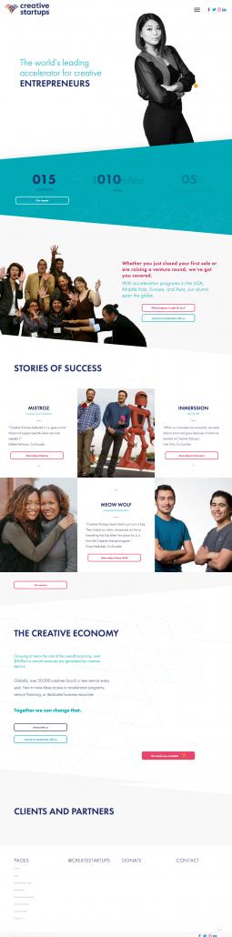 creative startup screen shot