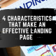feature image for the article 4 Characteristics That Make an Effective Landing Page